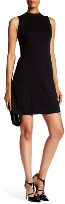 Brinker & Eliza Sleeveless Mock Neck Seamed Shift Dress