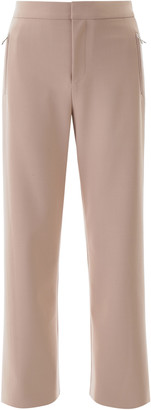 Area PALAZZO PANTS WITH CRYSTALS 2 Pink, Beige Wool