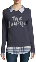 Soft Joie Haruna Combo Sweater w/ Plaid Shirting