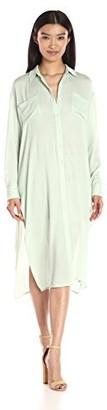Lucca Couture Women's Gauze Button Down Midi Shirt Dress