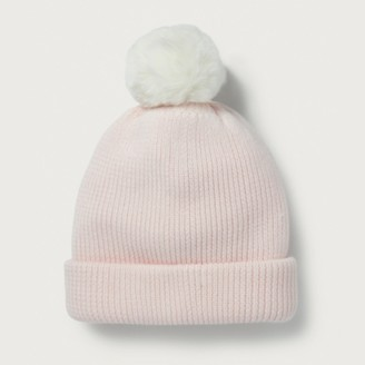 The White Company Convertible Pom-Pom Hat/Scarf, Pink, S/M