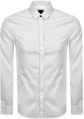 Armani Exchange Long Sleeved Slim Fit Shirt White