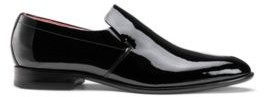 HUGO BOSS - Patent Leather Loafers With Full Leather Sole - Black