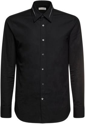 Alexander McQueen Slashed Details Cotton Poplin Shirt
