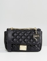 Marc B Pennie Quilted Cross Body Bag in Black