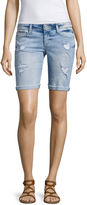 Arizona 9 Skinny Fit Denim Bermuda Shorts-Juniors