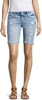 Arizona Skinny Fit Denim Bermuda Shorts-Juniors
