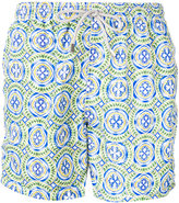 MC2 Saint Barth tile print swim shorts - men - Polyamide/Polyester/Spandex/Elastane - L