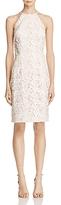 Carmen Marc Valvo Embellished Lace Dress