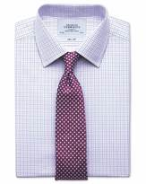 Charles Tyrwhitt Extra slim fit two colour check pink & blue shirt