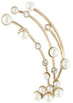 Christian Dior Faux Pearl & Crystal Ear Cuff Earring