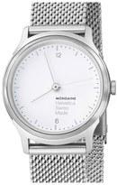 Mondaine 'Helvetica No.1 Light' Round Mesh Strap Watch, 26mm