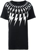 Neil Barrett lightning bolt T-shirt - women - Cotton - M