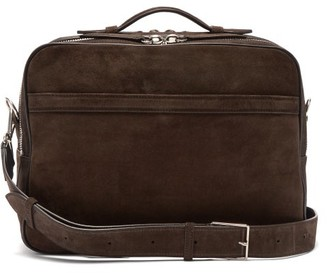 Metier - Wanderer Suede Messenger Bag - Mens - Brown