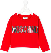 Moschino Kids - logo long sleeve T-shirt - kids - Cotton/Spandex/Elastane - 4 yrs