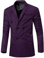 CFD Men's Casual Slim Fit Solid Button Closure Blazers Suit US-M
