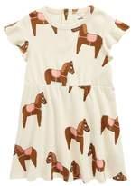 Mini Rodini Horse Print Organic Cotton Dress