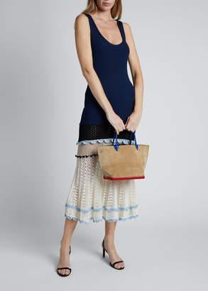 Altuzarra Knit Turtleneck Scoop-Neck Crochet Bottom
