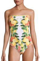 Stella McCartney One-Piece Printed Bandeau Swimsuit