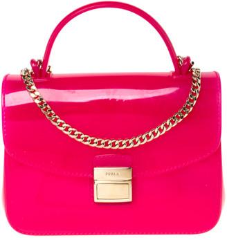 Furla Hot Pink Rubber Candy Top Handle Bag