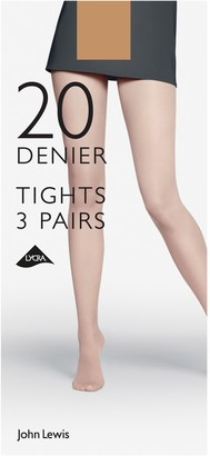 John Lewis & Partners 20 Denier Tights, XXL, Pack of 2