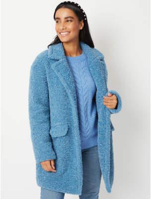 George Blue Borg Teddy Coat