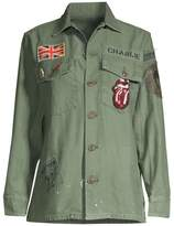 MadeWorn Rolling Stone Sequin Patch Army Jacket