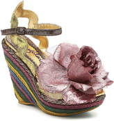 Irregular Choice Women's Weaver Espadrille Sandal -Gold Metallic