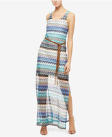 Sanctuary Free Flow Lace Striped Maxi Dress