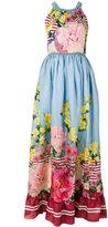 Blugirl long sleeveless floral dress - women - Silk/Polyester - 42