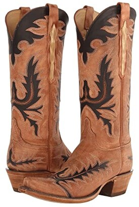 Lucchese L4741.S54 (Destroyed Pearwood Tan) Cowboy Boots