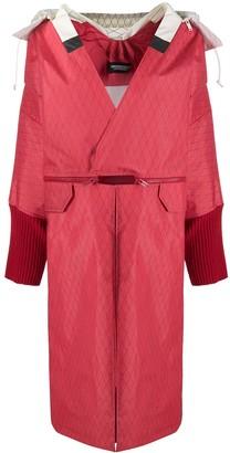 Undercover Argyle Side Zip Oversized Coat