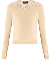 Simone Rocha Embellished wool and silk-blend sweater