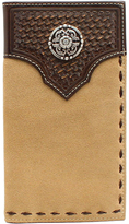 Ariat Tan Basketweave Rodeo Concho Wallet