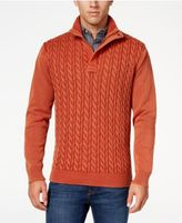 Weatherproof Vintage Men's Big and Tall Cable Knit Sweater, Classic Fit