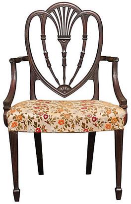 One Kings Lane Vintage 1950s Sheraton-Style Armchair - Something Vintage