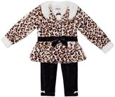 Little Lass Baby Girl Jacket, Tee & Leggings Set