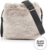 Furla CaosDrawstring Eco Fur Bag- Taupe