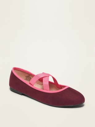 Old Navy Elastic-Strap Ballet Flats for Girls