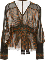 Anna Sui Greenbrier Diamond Border Top