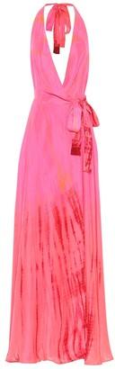 Anna Kosturova Exclusive to Mytheresa Silk maxi dress
