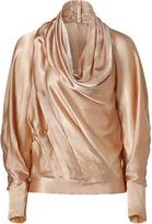 Donna Karan Blush cowl neck top