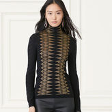 Ralph Lauren Metallic Cashmere Turtleneck