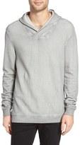 John Varvatos Men's Reverse Knit Pullover Hoodie