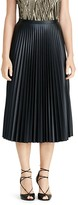 Lauren Ralph Lauren Faux Leather Accordion Pleat Midi Skirt