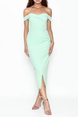 Lavish Alice Bardot Fitted Dress