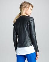 Vince Zigzag-Trim Leather Jacket