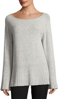 Elizabeth and James Clarette Boat-Neck Wide-Sleeve Sweater
