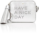 "Anya Hindmarch Women's ""Have A Nice Day"" Crossbody-SILVER"