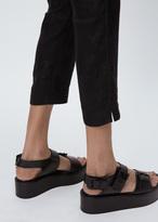 Ann Demeulemeester vitello nero platform sandal